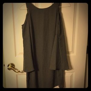 Olive Green AQUA Small Dress Flared Long Sleeves